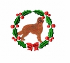 irishsetter1wreath Irish Setter (small or large design)