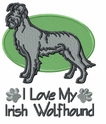 iwh008 Irish Wolfhound (small or large design)