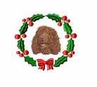 iws1wreath Irish Water Spaniel (small or large design)