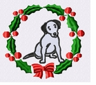 jrt032wreath Jack Russell /Parson Terrier (small or large design)