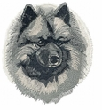 kees001 Keeshond (small or large design)