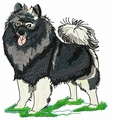 kees002 Keeshond (small or large design)