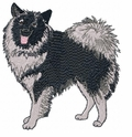 kees003 Keeshond (small or large design)