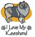 kees014 Keeshond (small or large design)