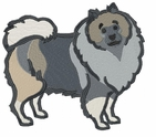 kees015 Keeshond (small or large design)