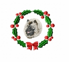 kees1wreath Keeshond (small or large design)