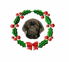 lab1wreath Labrador Retriever (small or large design)