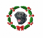lab2wreath Labrador Retriever (small or large design)
