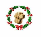 lab5wreath Labrador Retriever (small or large design)