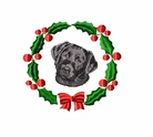 lab6wreath Labrador Retriever (small or large design)
