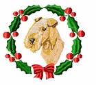 lakeland1wreath Lakeland Terrier (small or large design)