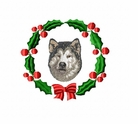 mal1wreath Alaskan Malamute (small or large design)