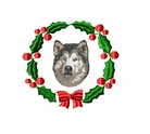 malblueeyes2wreath Alaskan Malamute (small or large design)