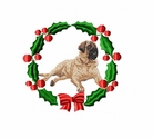 mastiff1wreath Mastiff (small or large design)