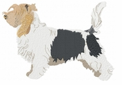 pbgv006 Petit Basset Griffon Vendeen (PBGV) (small or large design)