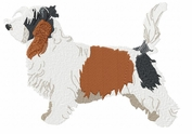 pbgv008 Petit Basset Griffon Vendeen (PBGV) (small or large design)