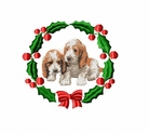 pbgv1wreath Petit Basset Griffon Vendeen (PBGV) (small or large design)