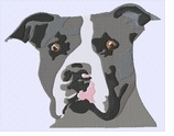 pbt009 Pit Bull Terrier (small or large design)