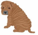 pei001 Chines Shar Pei (small or large design)