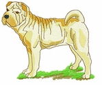 pei002 Chines Shar Pei (small or large design)