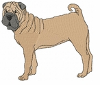 pei008 Chines Shar Pei (small or large design)