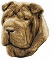 pei013 Chines Shar Pei (small or large design)