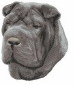 pei014 Chines Shar Pei (small or large design)