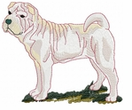 pei018 Chines Shar Pei (small or large design)