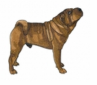 pei020 Chines Shar Pei (small or large design)