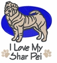 pei022 Chines Shar Pei (small or large design)