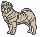 pei023 Chines Shar Pei (small or large design)