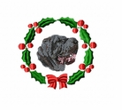 pei2wreath Chines Shar Pei (small or large design)