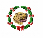 pei3wreath Chines Shar Pei (small or large design)