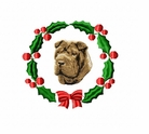 pei4wreath Chines Shar Pei (small or large design)
