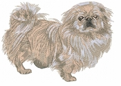 pekin012 Pekingese (small or large design)