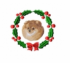 pom1wreath Pomeranian (small or large design)