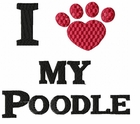 pood062 Poodle (small or large design)
