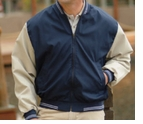 Poplin Baseball Jacket with design Made in the USA