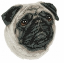 pug001 Pug   (small or large design)
