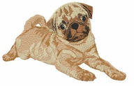 pug003 Pug   (small or large design)