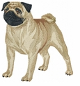 pug006 Pug   (small or large design)