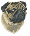 pug008 Pug   (small or large design)