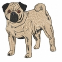 pug010 Pug   (small or large design)
