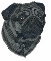 pug013 Pug   (small or large design)
