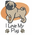 pug017 Pug   (small or large design)