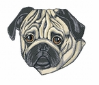 pug030 Pug   (small or large design)