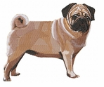 pug038 Pug   (small or large design)