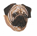 pug040 Pug   (small or large design)