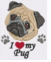 pug048 Pug (small or large design)