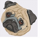 pug049 Pug (small or large design)